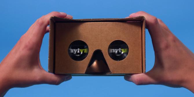구글 카드보드에서 VR앱을 구동한 장면 - 이정환 제공
